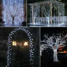 10m Solar Powered 100LED Christmas Decor Lights Garden Waterproof COOL WHITE