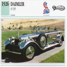 1926 DAIMLER 45 HP Classic Car Photograph / Information Maxi Card