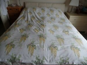 LAURA ASHLEY YELLOW WISTERIA DOUBLE QUILT DUVET COVER