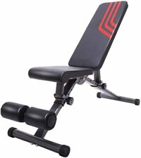Adjustable Weight Bench Utility Exercise Workout Flat Incline Press for Home Gym