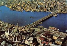 Turkey Istanbul The Golden Horn and Galata Bridge Aerial view