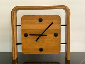 Mid Century Danish Scandinavian Teak Wood Clock