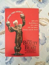 Beauty and the Beast broadway musical postcard