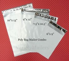 140 Poly Envelope Bags ~ 4 Sizes ~ Self-Sealing Shipping Mailer Variety Pack