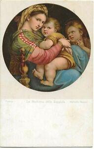 Religious Art Postcard - La Madonna della Seggiola, Raffaello Sanzio, Italy A85