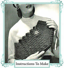 How to make a vintage 1940s wartime chic,stylish clutch handbag-crochet pattern