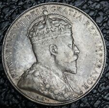 OLD CANADIAN COIN 1910 - 50 CENTS - SILVER - Edward VII - Gorgeous Coin - NCC