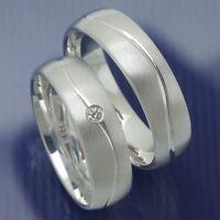 2 Stück Silber Partnerringe | Verlobungsringe | Trauringe | Eheringe Modell Taro