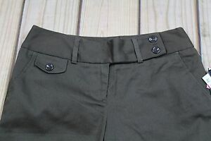 NWT Tracy Evans Junior's Brown Bermuda Shorts Stretch Size 12