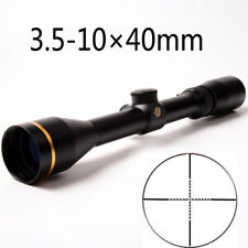 Tactical 3.5-10X40mm Rifle Scope Mil Dot Reticle Duplex HD Glass Sight Scope