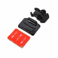 3M Adhesive Sticky Curved Base Pad and Buckle Mount fits GoPro Go Pro Hero