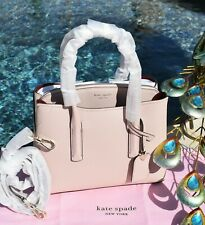 🌸 NWT Kate Spade Margaux Medium Satchel Bag Leather Pale Vellum Beige NEW $298