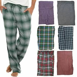 Mens Pyjama PJ Pants Bottoms Lounge Pure Cotton Woven Check Tartan Nightwear