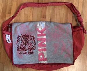 Victoria's Secret Red Oversized Messenger Overnight Bag Tote VGUC