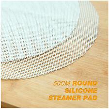 50cm Round Silicone Eco-friendly Steamer Pad Stuffed Bread Pad Dumplings Mat