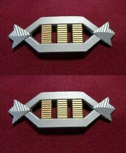 Star Trek Captain Rank Pin Pip Insignia Badge - Monster Maroon x 2