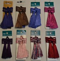 """Curtain & Chair Tie Back -27""""spread with 3"""" double tassel-Set of 2- 14 colors!!!"""