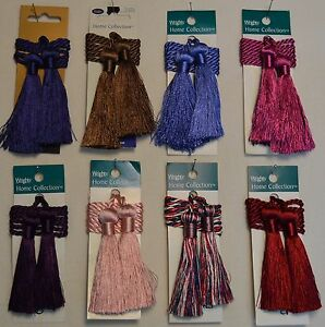 "Curtain & Chair Tie Back -27""spread with 3"" double tassel-Set of 2- 15 colors!!!"