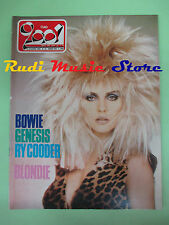 rivista CIAO 2001 24/1982 Blondie Bowie Genesis Ry Cooder Nino Bonocore No cd