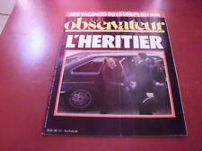 LE NOUVEL OBSERVATEUR N°1028 1984 L'HERITIER  LAURENT FABIUS