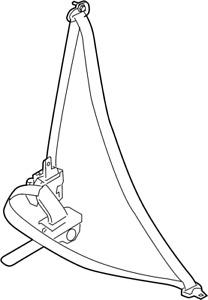 Nissan/INFINITI 86885-4BA8A Seat Belt Lap and Shoulder