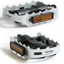 "WELLGO LU-C25 MTB BMX Road Bike Pedals Flat/Platform Bicycle Pedals 9/16"" 1Pair"