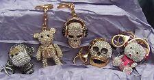 Stunning Shimla Crystal encrusted Key ring Bag chain skull Teddy bear Gorgeous