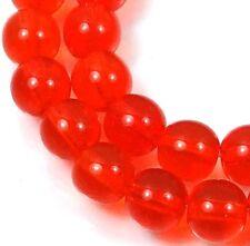 50 Czech Glass Round Beads - Hyacinth / orange  6mm