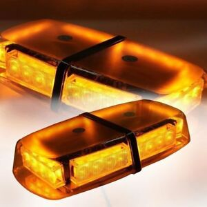 LED Amber Flashing Warning Light for Emergency Car Truck Van Roof Vehicle  24w