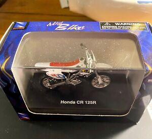 Honda CR 125R Motorcross Mini Dirt Bike Motorcycle Red 1/32 Die Cast NIB White