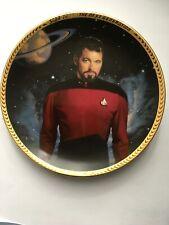 Star Trek: The Next Generation, Hamilton Plate, Commander William T. Riker w/Coa