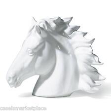 INTRADA Italian Ceramic White Horse Bust Statue Figurine Handmade in Italy