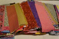 """SCRAP LOT ~ 46 2""""x10"""" STRIPS SCRAPS100% Cotton Quilt Fabric NO DUPLICATES"""