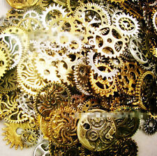 20PCS VINTAGE  Watch Parts Steampunk Cyberpunnk Cogs Gears DIY Jewelry Craft