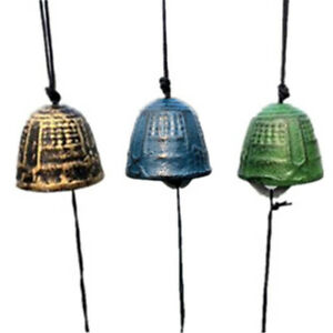 Japanese Traditional Bronze/Green Furin Wind Chime Bell Home Garden Decor Gift