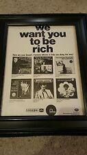 Mercury Fontana Records Rare Original Promo Poster Ad Framed!