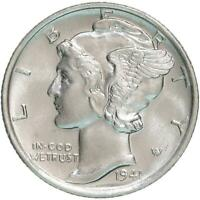 1941 S Mercury Dime Small s 90% Silver BU US Coin