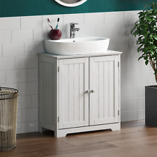Priano Bathroom Sink Cabinet Under Basin Vanity Storage Cupboard Unit White