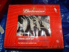 2 sets:  Budweiser Bottles Indoor/Outdoor 12 Ft. String Light Set - 10 Lights