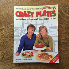 Crazy Plates Cookbook by Looney Spoons Podleski 1999 Out of Print Healty Cooking