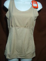 NEW SPANX HIDE & SLEEK A226764 TOTAL TAMING TANK/CAMISOLE BEIGE SIZE 1X