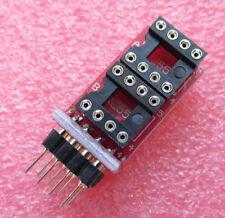Dual DIP8 to DIP8 Dual Opamp Adaptor PCB Upgrade for NE5532 TL072 AD827 OP285