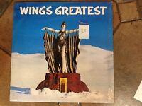 "original 1st Press WINGS GREATEST 12"" LP w/Poster+INNER Paul McCartney UK 1978"