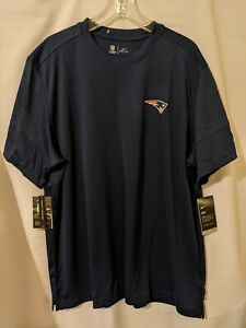 NWT Nike New England Patriots Mens Short Sleeve UPF 40+ Dri Fit Shirt Sz XXL