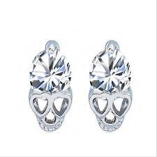 Silve alloy earring allergy skull earrings The new zircon earrings HOT