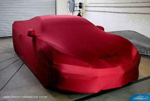 Coverking Red Satin Stretch Car Cover for Chevy Corvette C8 - Made to Order