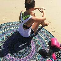 Large Round Beach Towel Picnic Blanket Tapestry Throw Yoga Mat (59 inch)