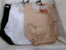 3 Pack Ladies Briefs Womens Floral Cotton Full Comfort Fit Underwear Sz 10-24 White UK 12( EUR 40)