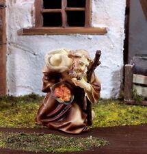Schäfer kniend mit Brotkorb aus Polyresin, für 11 cm Krippenfiguren