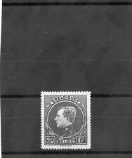 BELGIUM Sc 213(MI 263IIb)*VF LH 1929 20F DARK GREEN, GREY PAPER, TYPE II, $1850